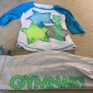 Matching gymnast Justice outfit. Size 7